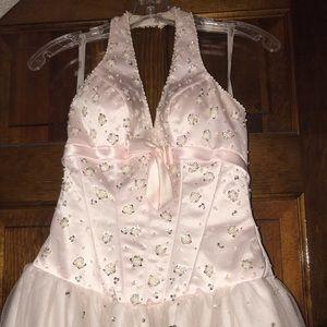 Blush tiffany gown